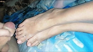 FootJob. I went to bed with my half-sister. RichFantasy.