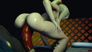 26RegionSFM - Samus Aran VS Big Lizard Dick
