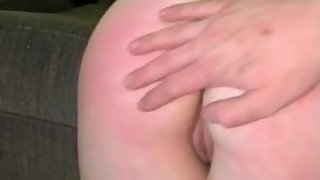 Lonely college girl gets spanked