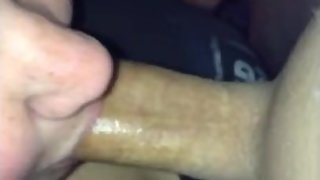 Amateur blowjob throat creampie