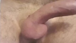 Teen guy shaving his nice cock / dick and cum after he's done.