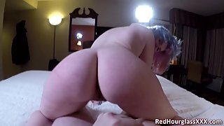 Young PAWG amateur Lucy Sinner bounces her juicy booty on my cock