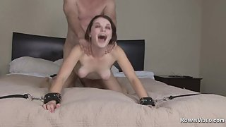 Step dad fucks Anastasia Rose and spanked slapped whipped and fucked hard
