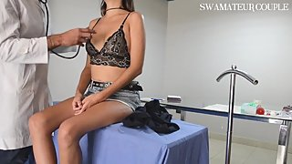 SPECULUM GYNO DOCTOR FAKE PAINFUL ANAL AND VAGINAL EXAM - SWAMATEURCOUPLE