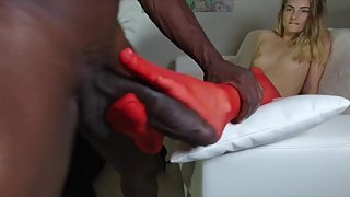Trailer Foot fetish on big black cock part 2 parts
