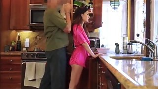 Taboo! Perverted stepdad trying to seduce his naughty stepdaughter