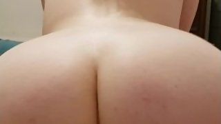 Gorgeous white booty gets came in by BBC
